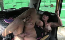 Lucky Scottish cab driver fuck his horny busty passenger