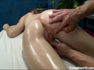 Porno Video of Hot And Sexy Brunette 18 Year Old Alice Gets Fucked Hard By Her Massage Therapist