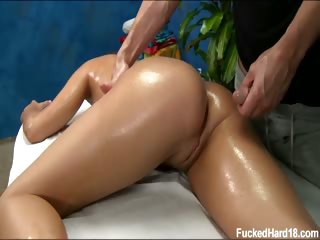 Porno Video of 18 Year Old Teal Gets Fucked Hard From Behind By Her Massage Therapist