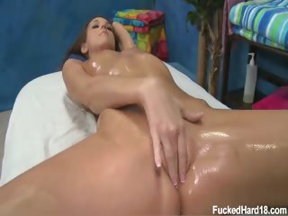 Porno Video of Hot 18 Year Old Brunette Katie Gets Fucked Hard From Behind By Her Massage Therapist.
