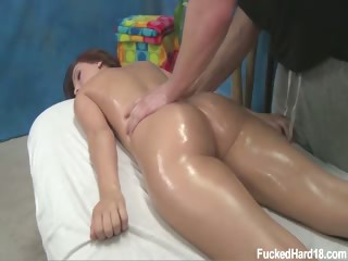 Porno Video of Cute 18 Year Old Maryjane Johnson Seduced And Fucked Hard After Her Free Massage!