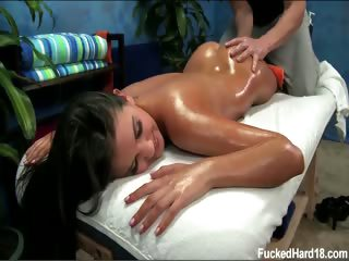 Porno Video of 18 Year Old Naomi Gets Fucked Hard From Behind By Her Massage Therapist
