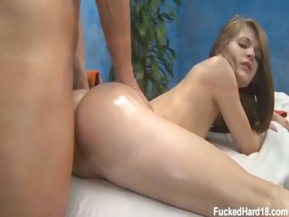 Porn Tube of 18 Year Old Sensi Was Extremely Excited To Get Her Massage. She Said She Couldnt Pass Up A Free Massage.