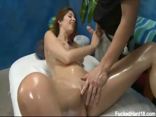 Porno Video of Cute 18 Year Old Karina Appeared Rather Shy At The Beginning But Soon She Loosened Up As The Warm Oil Touched Her Beautiful Booty And Tits.