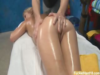 Porn Tube of Cute 18 Year Old Blond Casi Seduced And Fucked Hard After Her Free Massage! She Just Couldn't Help Herself After Getting Rubbed Down With Massage Oil