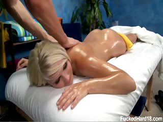 Porno Video of Sexy 18 Year Old Tosh Locks Gets Fucked Hard From Behind By Her Massage Therapist