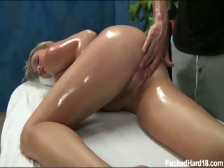 Porno Video of Cute 18 Year Old Mia Seduced And Fucked Hard After Her Free Massage!