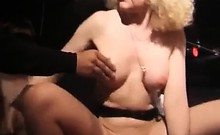 Hot mature slut enjoys hot gang bang