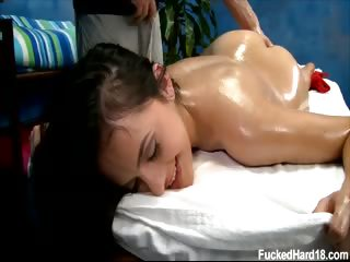 Porno Video of Cute 18 Year Old Melaine Seduced And Fucked Hard After Her Free Massage!