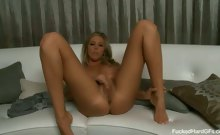 Hot blonde Samantha Saint caught getting fucked hard on