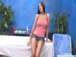 Porno Video of Sexy Brunette Kortney Fucks And Sucks Her Massage Therapist