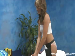 Porn Tube of Naughty Girl Kara Fucks Her Massage Client After A Rub Down!