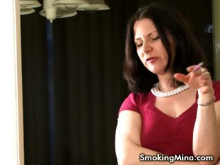 Porno Video of Brunette Babe Smoking While Talking Dirty