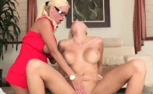 Two women Rikki Six and Nikita Von James sharing hard cock