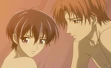 Hentai gay boy naked in bed having love n sex