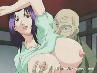 Sex Movie of Sweety Hentai Babe With Giant Knockers Getting Delicious Pussy Fingered By A Bald Dude