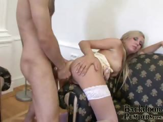 Porno Video of Scenic Blonde Bitch Getting Tight Butthole Smashed By A Giant Dong Doggy Style