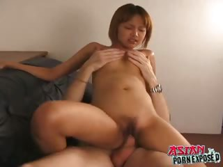 Sex Movie of Petite Asian Teen Girl With Small Tits Nam Gets Tight Cunt Fucked Hard On The Couch