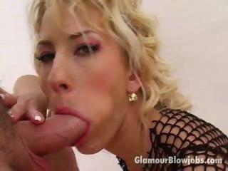 Porn Tube of Wild Haired Blond Vixen Justine Slurping An Immense Shaft With Lust