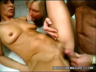 Porno Video of Mature Redhead Hot Threesome
