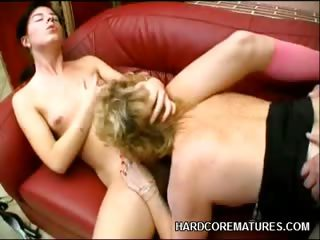 Porno Video of Mature Babe Martha Sharing A Cock