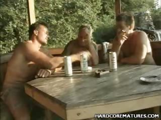 Porno Video of Outdoor Mature Gangbang