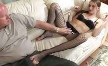 Stocking Babe Gets Her Toes Licked