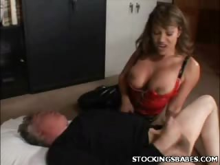 Porn Tube of Busty Milf In Stockings