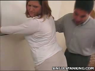 Porno Video of Office Lady Ass Belt Spanked