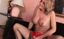 TS Astrid Shay blows her photographer