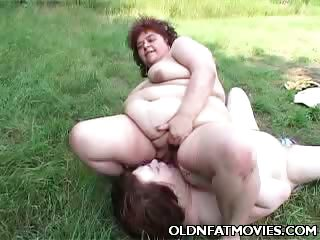 Porno Video of Mature Plumpers Helping Each Other Get Off