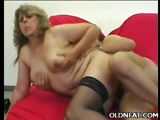 Porn Tube of Fat Mature Pussy Plugged With A Dick