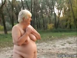 Porno Video of Chunky Gilf Enjoys Outdoor Sex