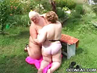 Porn Tube of Fat Mature Lesbians Having Sex Outdoors