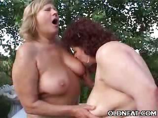 Porn Tube of Fat Mature Lesbians Tits Tease
