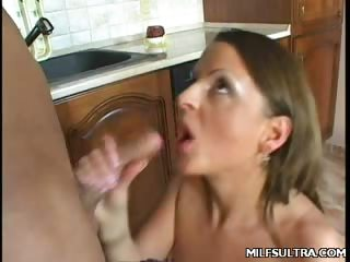 Porno Video of Milf Ann Kitchen Tease
