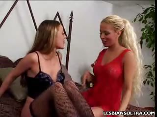 Porno Video of Lesbian Dildo Loving
