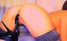 Slut Stuffing Her Panties In Her Pussy