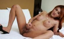 Beautiful tranny Nice solo masturbation