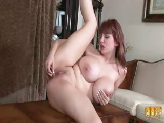 Porn Tube of Christy Cleans Up And Gets Dirty