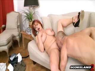 Porno Video of A Busty Redhead Goes For An Autumn Fling