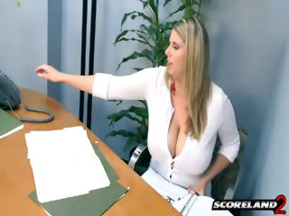 Porn Tube of This Secretary Has A Huge Rack!