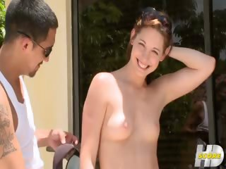 Sex Movie of Her First Time Outdoors