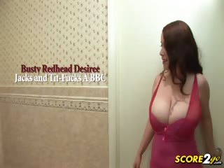 Porno Video of Busty Redhead Desiree Jacks And Tit-fucks A Bbc