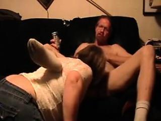 mature woman riding her husbands cock