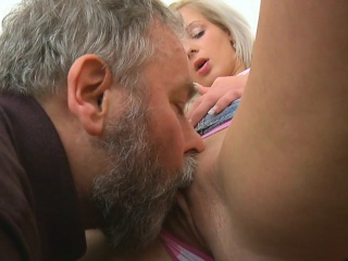 lovely young sweetie is fascinated to ride old hard wang