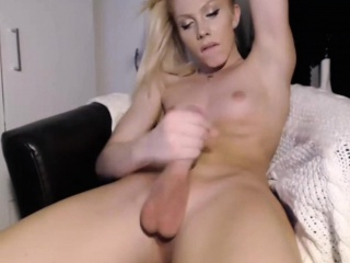 beautiful blonde tranny with small tits