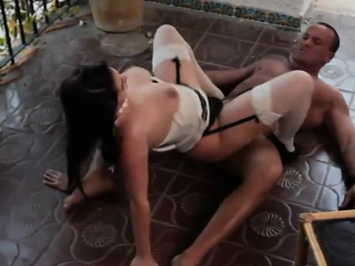 brunette hussy has her wet pussy drilled