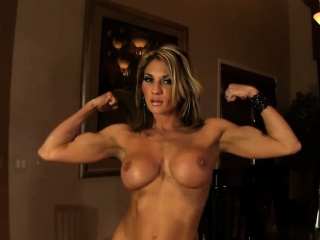 strong women abby shows off her sexy naked body