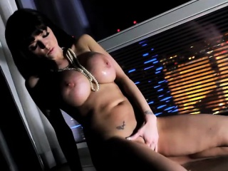 joslyn james is sexy with strip vegas view